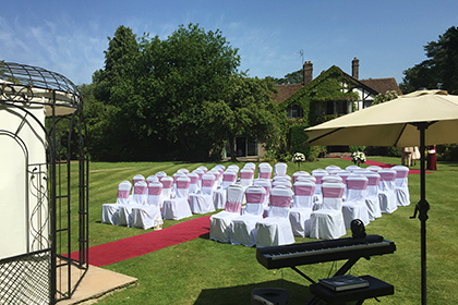 Civil Wedding Ceremony at Cisswood House Hotel, Lower Beeding, Horsham, West Sussex