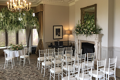 Civil Wedding Ceremony and Drinks Reception at Hartsfield Manor, Betchworth, Surrey