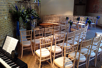 Civil Wedding Ceremony at The Walled Garden At Cowdray, Midhurst, West Sussex