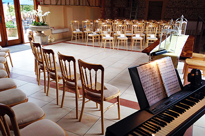 Civil Wedding Ceremony at Upwaltham Barns, Petworth, West Sussex